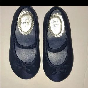 Navy Janie and Jack Bow Flats Sz 4.5